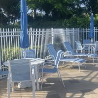 New Pool Furniture | Berkshire Lakes on a cloudy day | Berkshire Lakes Master Association